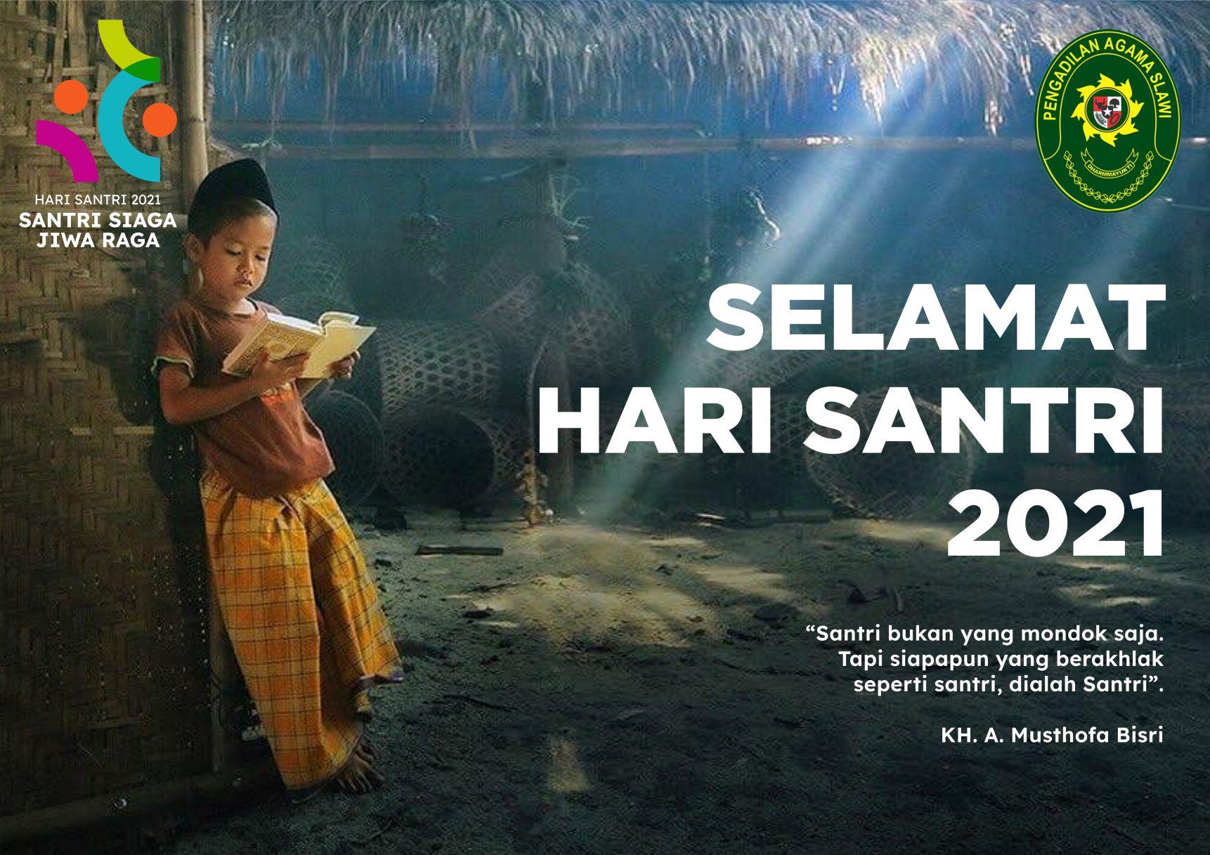 SELAMAT HARI SANTRI TAHUN 2021