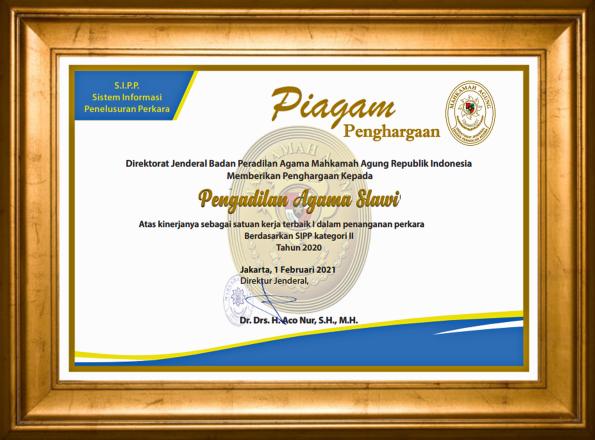 Piagam Penghargaan Badilag Award